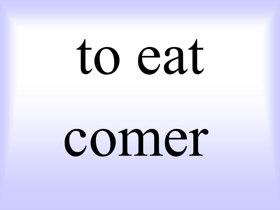 to eat comer