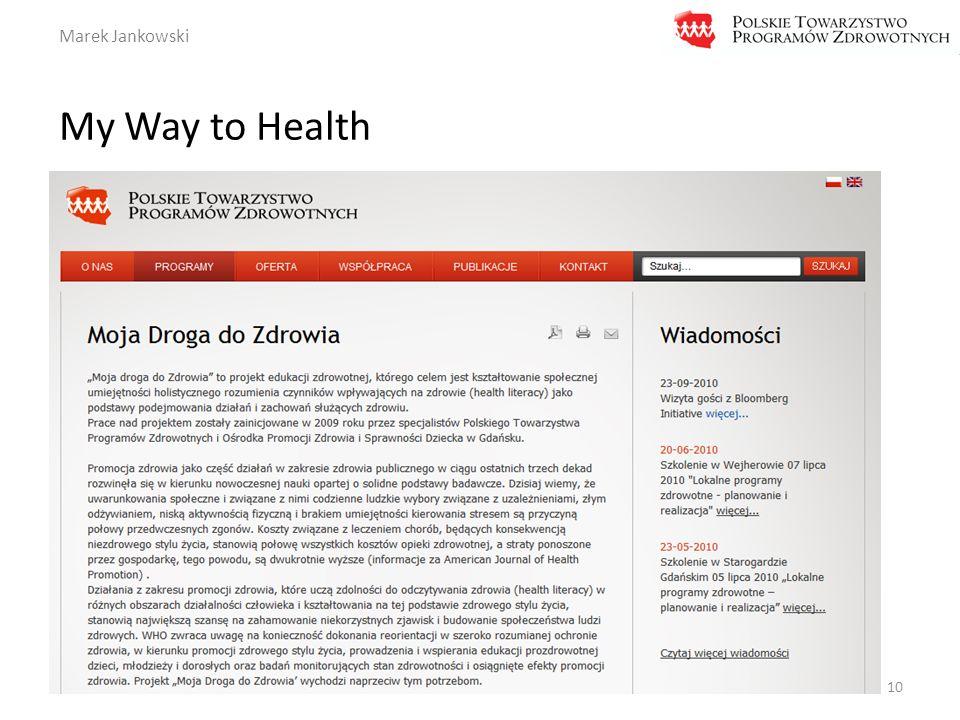 Marek Jankowski My Way to Health 10