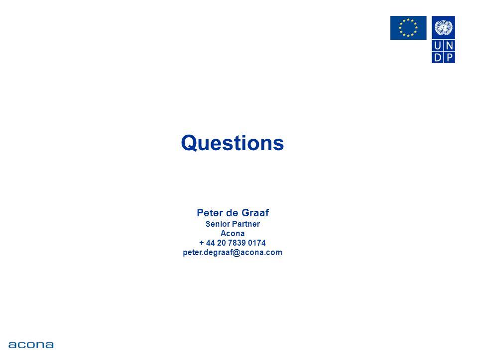 Questions Peter de Graaf Senior Partner Acona + 44 20 7839 0174 peter.degraaf@acona.com