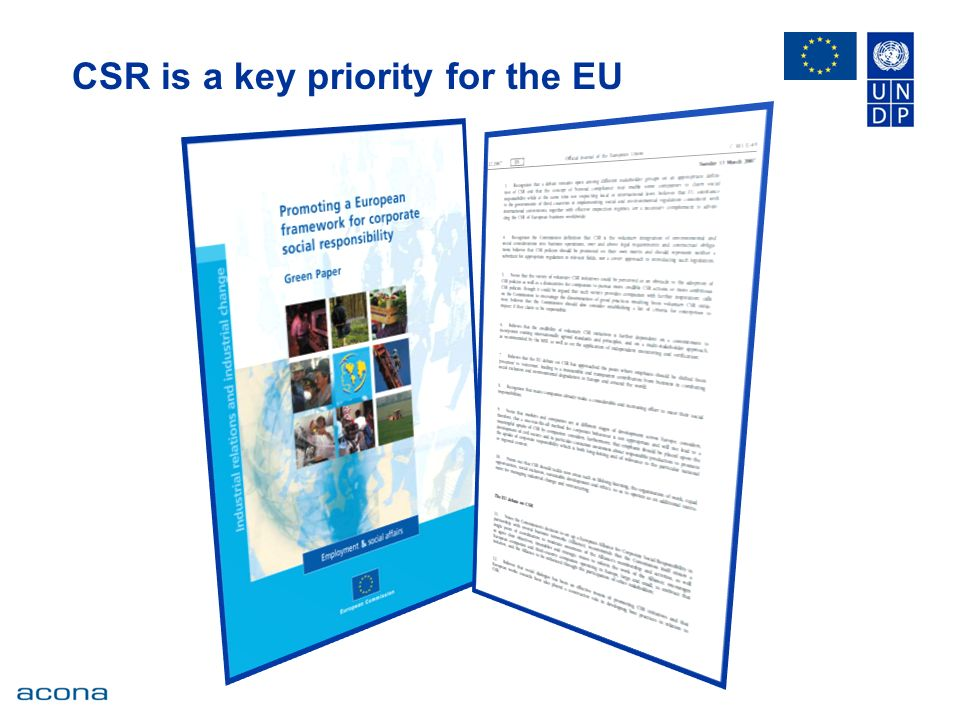 CSR is a key priority for the EU