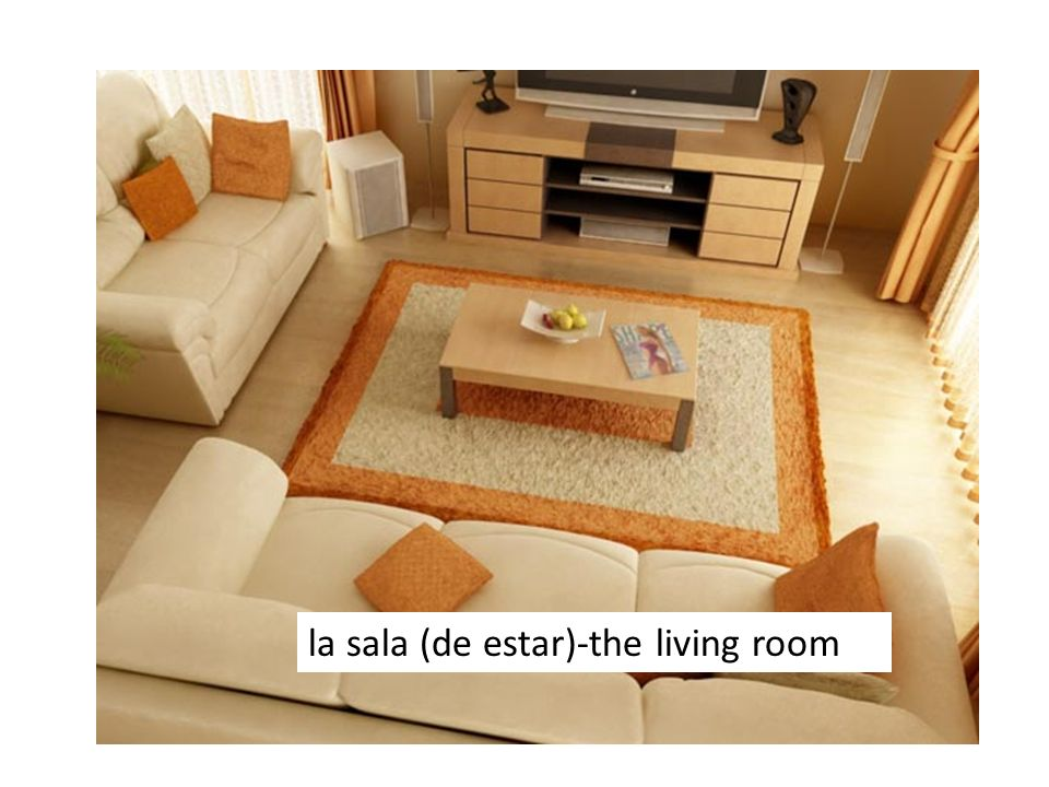 la sala (de estar)-the living room