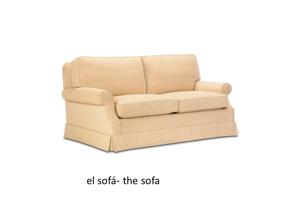 el sofá- the sofa