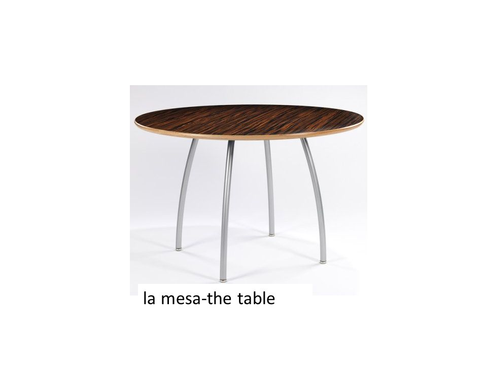 la mesa-the table