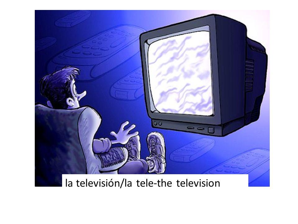 la televisión/la tele-the television