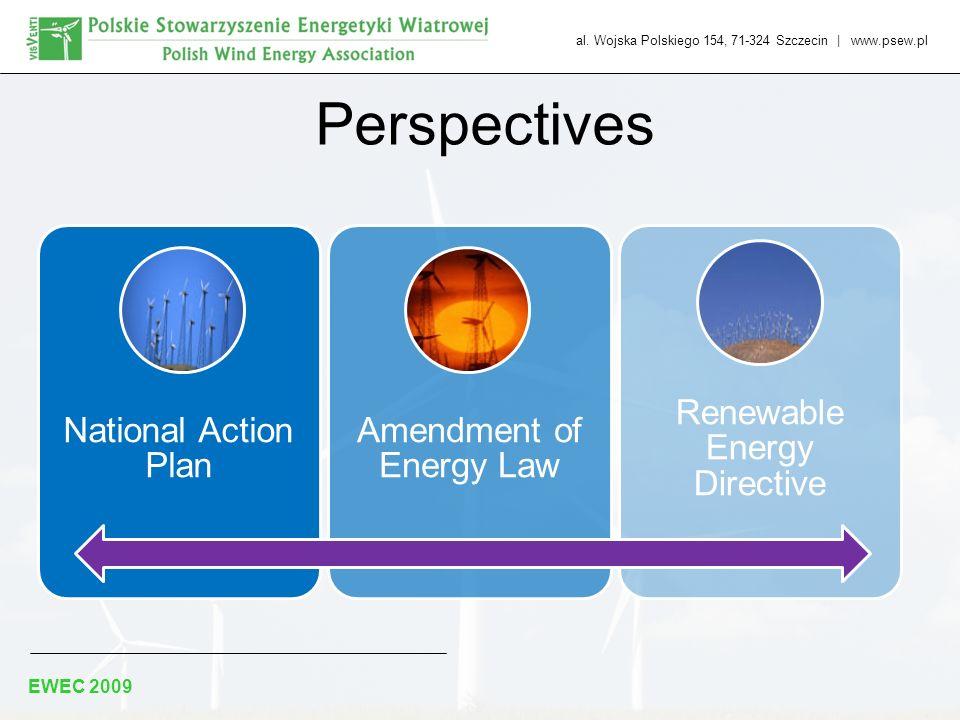 al. Wojska Polskiego 154, 71-324 Szczecin | www.psew.pl EWEC 2009 Perspectives National Action Plan Amendment of Energy Law Renewable Energy Directive