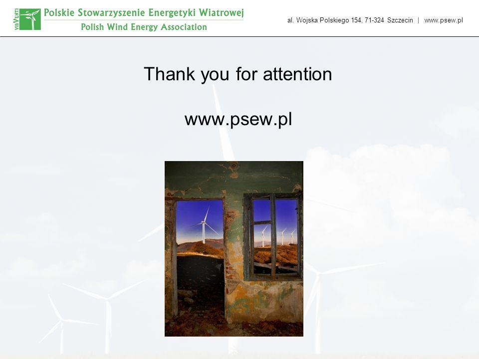al. Wojska Polskiego 154, 71-324 Szczecin   www.psew.pl Thank you for attention www.psew.pl