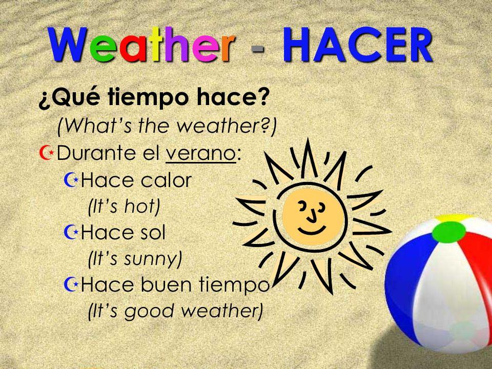 Weather - HACER ¿Qué tiempo hace.