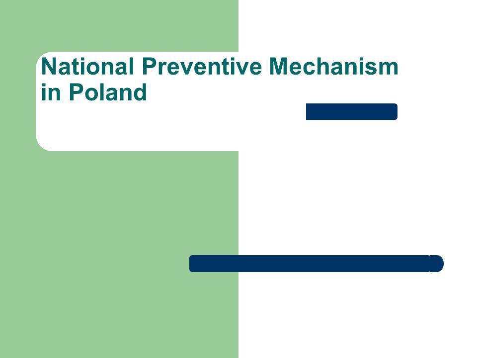 National Preventive Mechanism in Poland