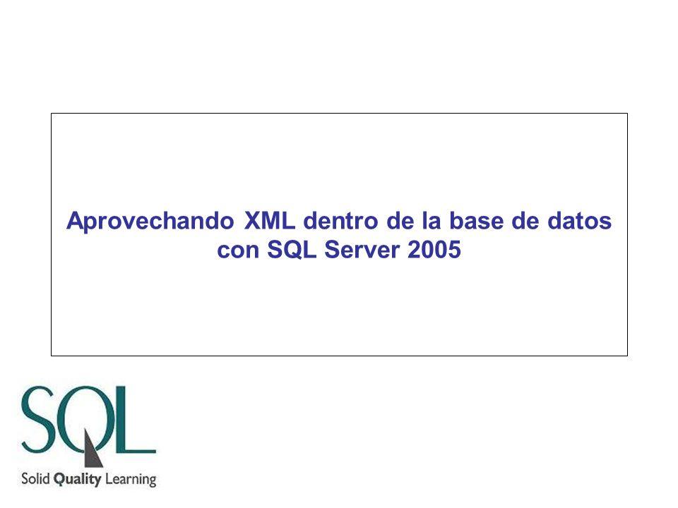 Aprovechando XML dentro de la base de datos con SQL Server 2005