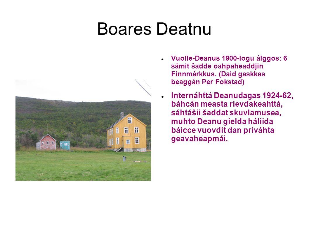 Boares Deatnu Vuolle-Deanus 1900-logu álggos: 6 sámit šadde oahpaheaddjin Finnmárkkus. (Daid gaskkas beaggán Per Fokstad) Internáhttá Deanudagas 1924-