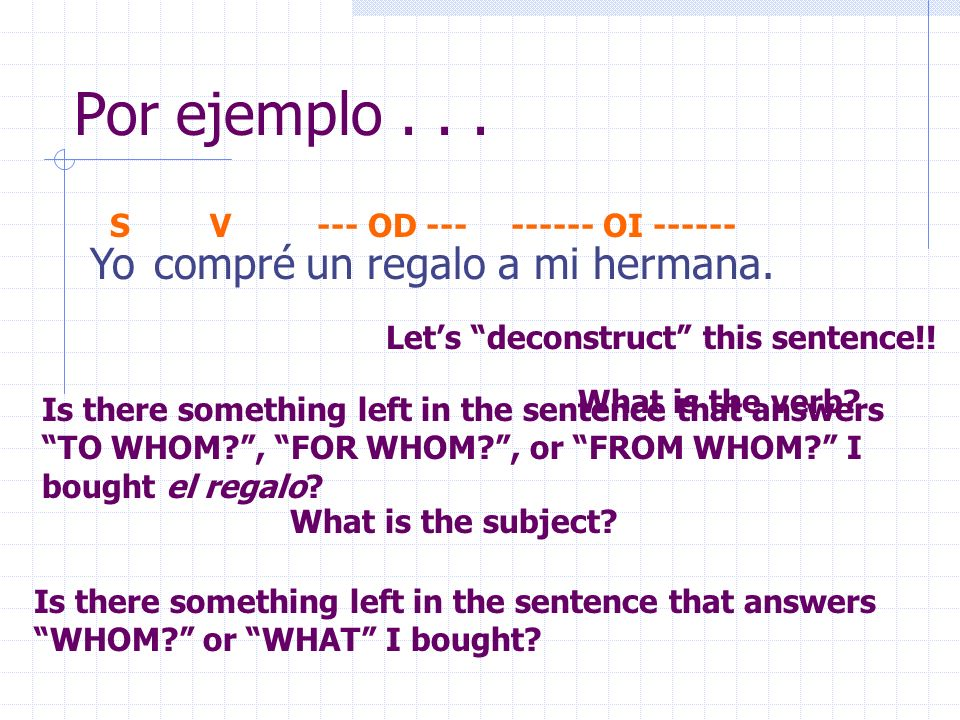 Indirect Object Pronounsmete le nos les To whom? For whom? From whom?