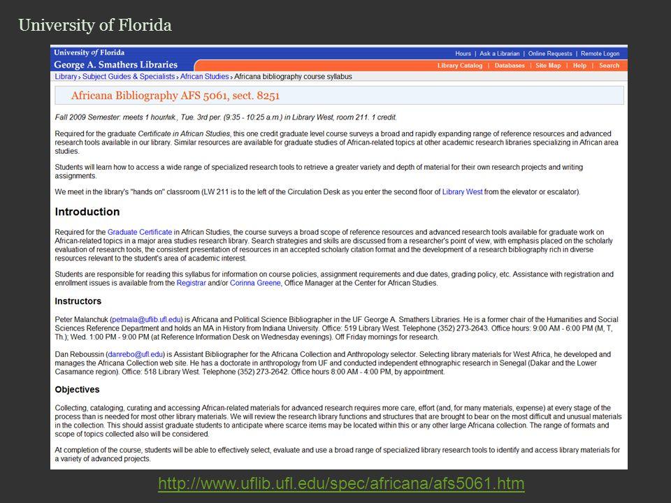University of Florida http://www.uflib.ufl.edu/spec/africana/afs5061.htm