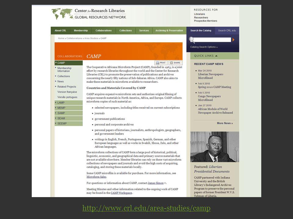 http://www.crl.edu/area-studies/camp