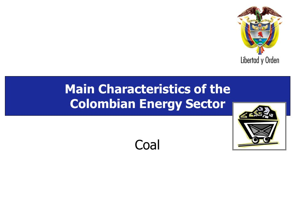 Main Characteristics of the Colombian Energy Sector Coal