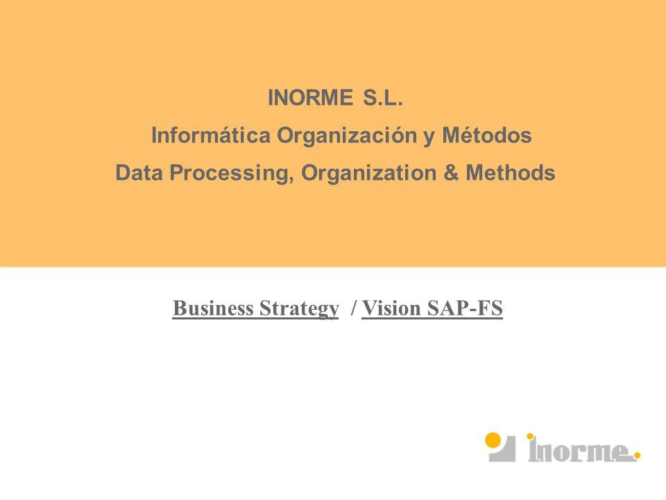 INORME S.L. Informática Organización y Métodos Data Processing, Organization & Methods Business Strategy / Vision SAP-FS