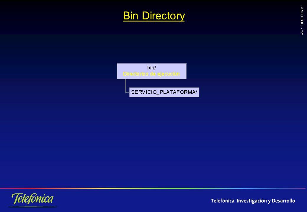 ARQ EGSDP. - Nº Bin Directory