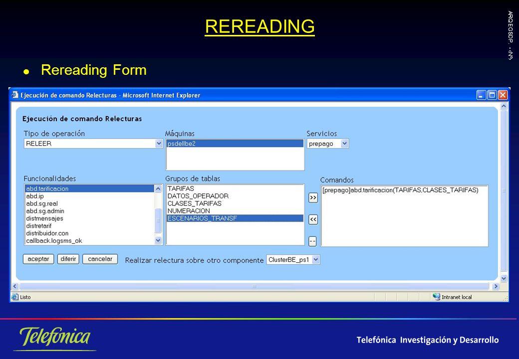 ARQ EGSDP. - Nº REREADING l Rereading Form