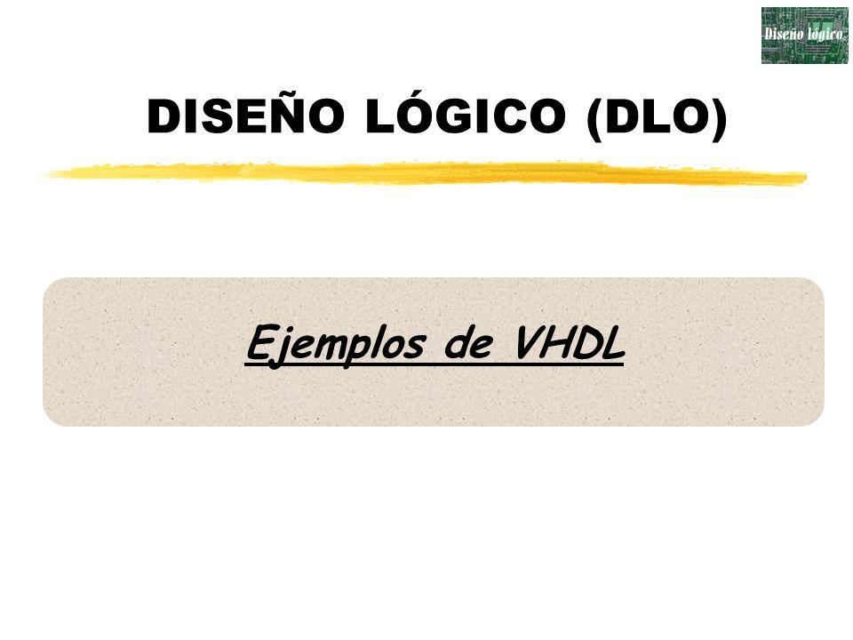 DISEÑO LÓGICO (DLO) Ejemplos de VHDL
