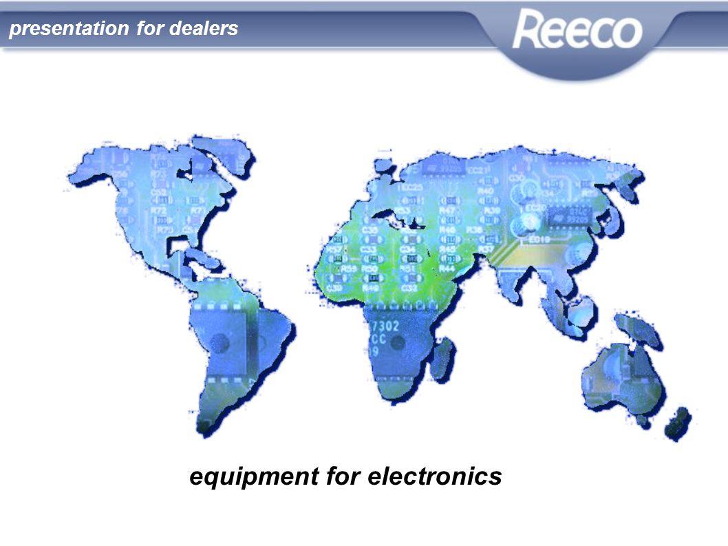 equipment for electronics presentation for dealers
