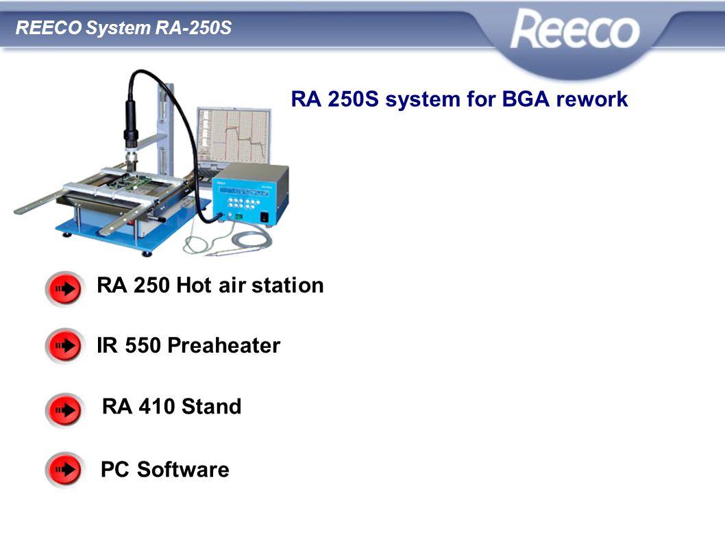 wysoka jakość atrakcyjna cena zgodność z CE i RoHS RA 250 Hot air station IR 550 Preaheater RA 410 Stand PC Software REECO System RA-250S RA 250S syst
