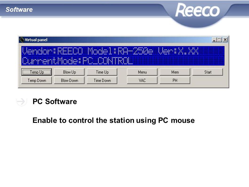 wysoka jakość atrakcyjna cena zgodność z CE i RoHS PC Software Enable to control the station using PC mouse Software