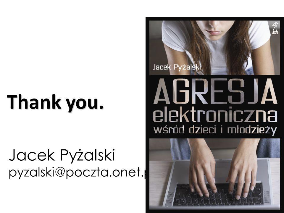 Jacek Pyżalski pyzalski@poczta.onet.pl Thank you.