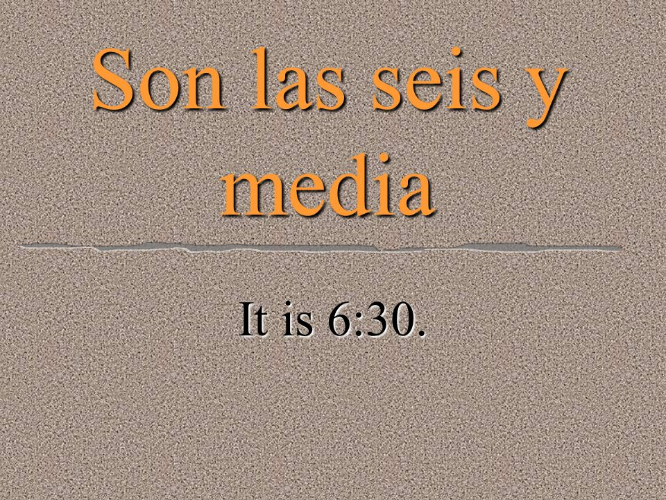 Son las cinco y cuarto. It is 5:15.
