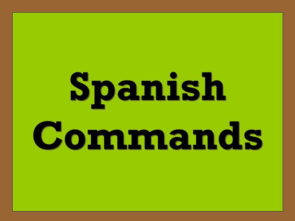 Decir – To tell (+) Tú Command: Di Di la verdad. -Tell the truth.