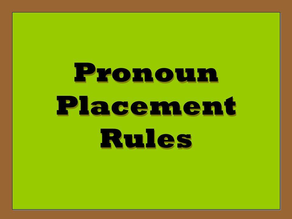 Poner – To put/place (+) Tú Command: Pon Pon la mesa. -Set the table.