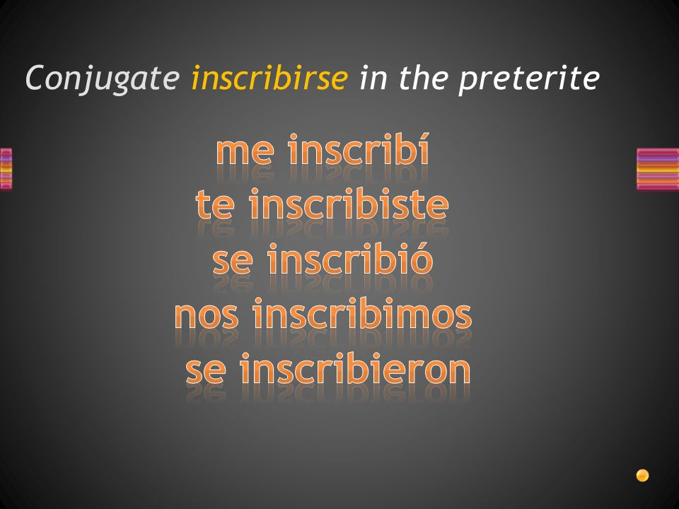 Conjugate inscribirse in the preterite