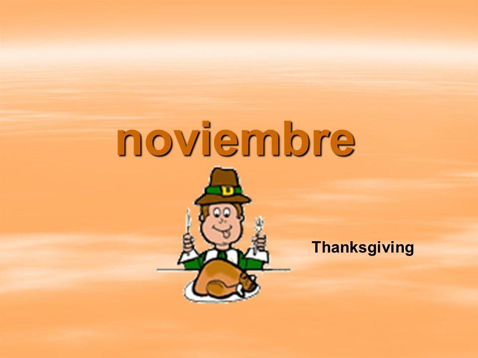 noviembre Thanksgiving