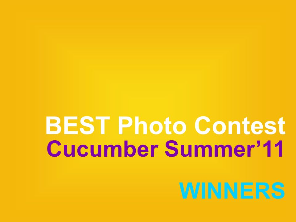BEST Photo Contest Cucumber Summer11 WINNERS