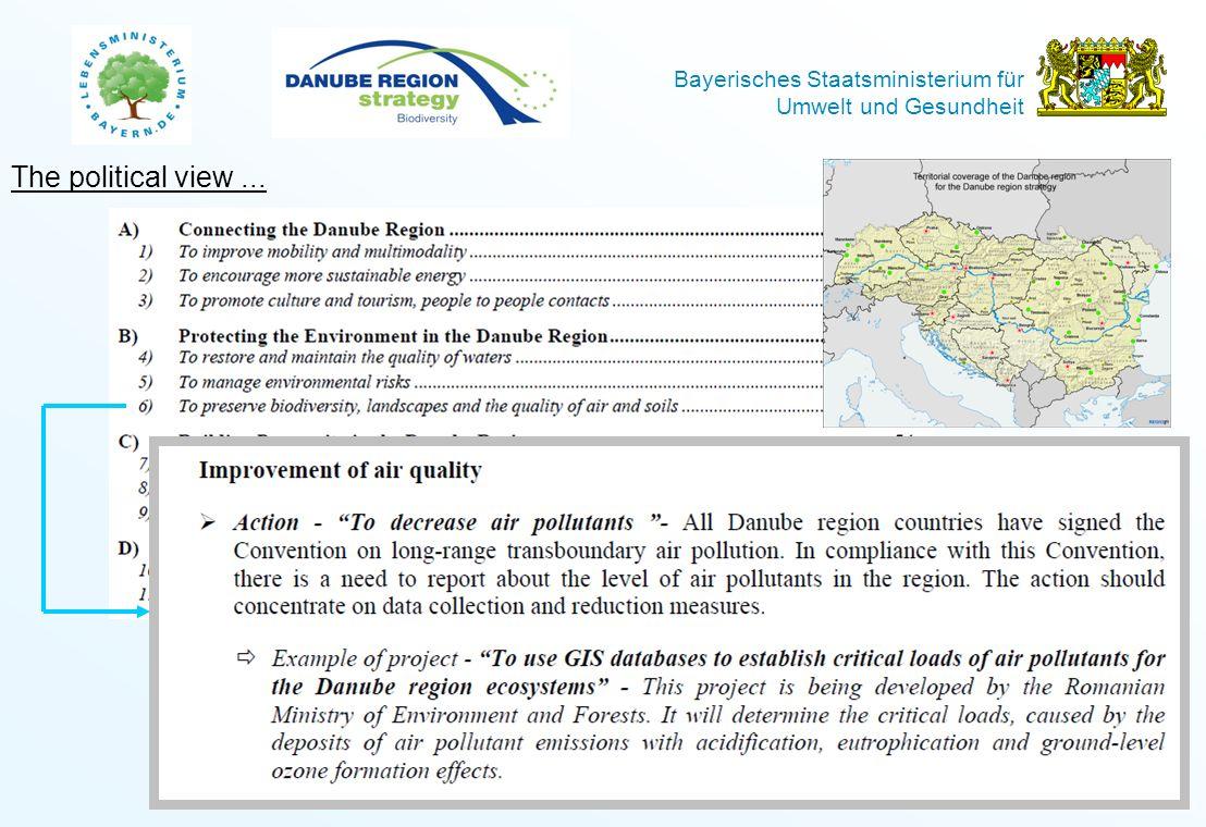 Bayerisches Staatsministerium für Umwelt und Gesundheit Folie: 3 The content view...