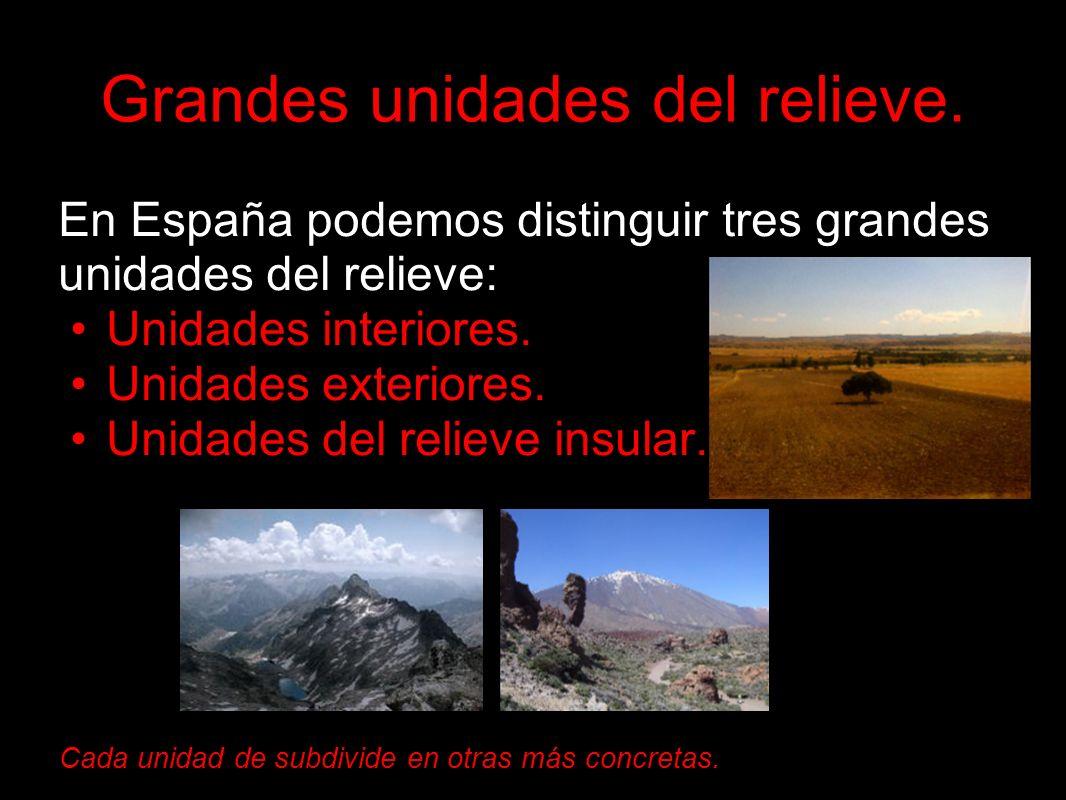 Unidades exteriores: Encontramos, además de cordilleras independientes de la Meseta, dos grandes depresiones formadas por ríos: Depresión del Ebro.