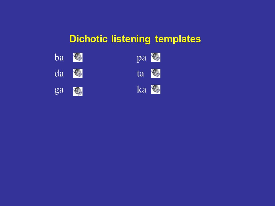 bapa data gaka Dichotic listening templates