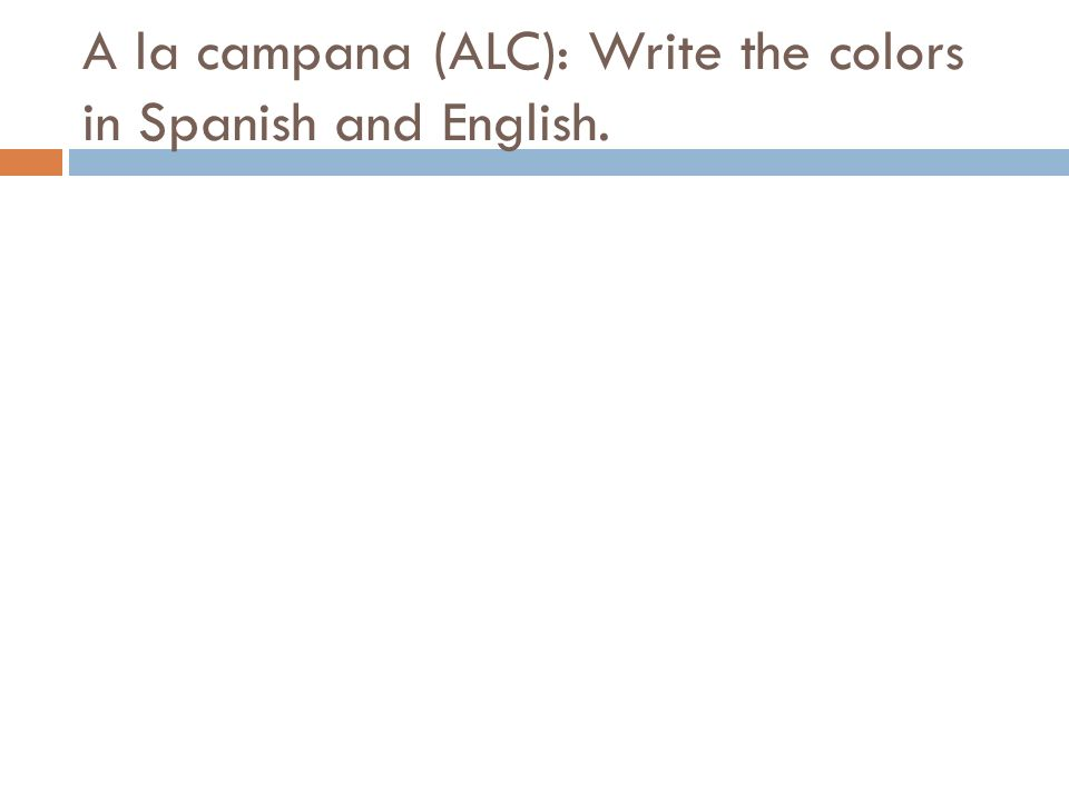 You have 40 seconds to see if you can find where the colors might be in the book. Please have new flash cards ready.