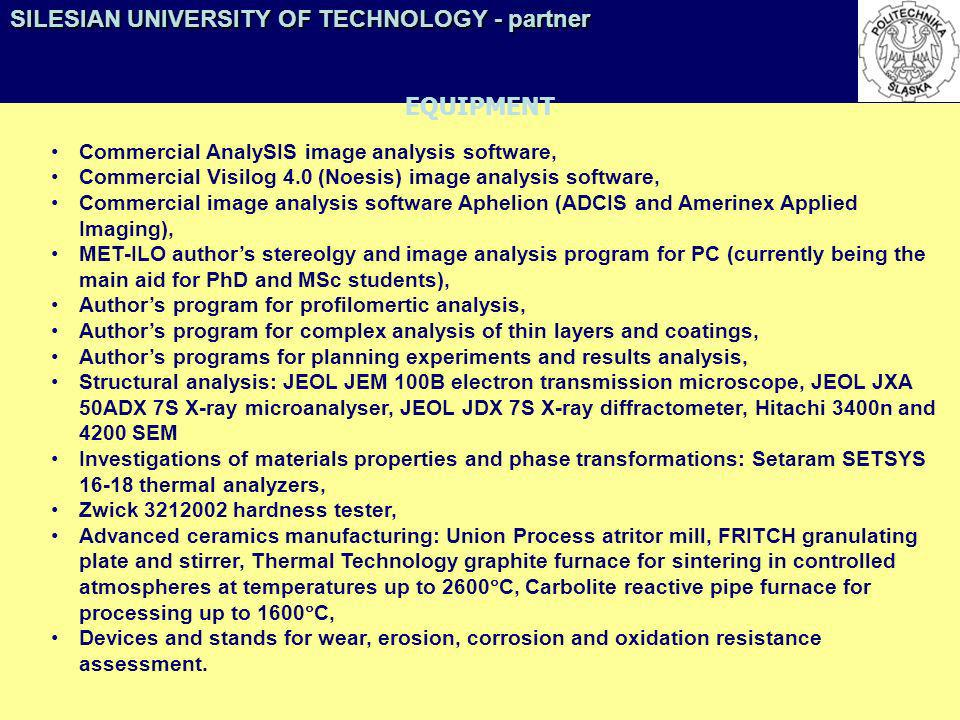 Commercial AnalySIS image analysis software, Commercial Visilog 4.0 (Noesis) image analysis software, Commercial image analysis software Aphelion (ADC