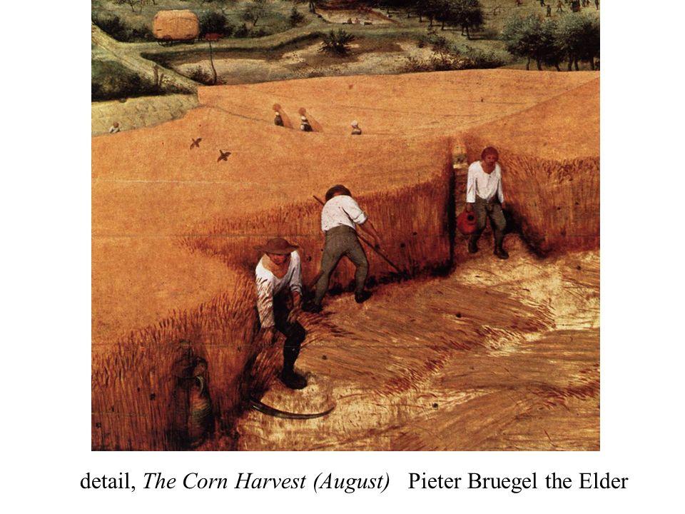 detail, The Corn Harvest (August) Pieter Bruegel the Elder