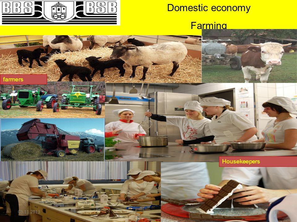 Domestic economy Farming farmers Housekeepers 03.11.201318