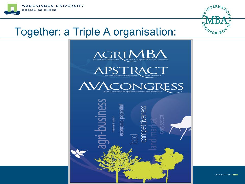 Together: a Triple A organisation:
