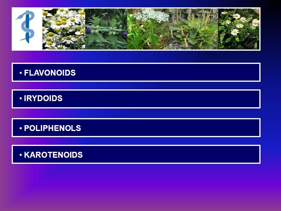 FLAVONOIDS IRYDOIDS POLIPHENOLS KAROTENOIDS