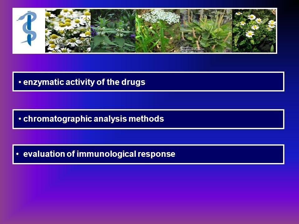 enzymatic activity of the drugs chromatographic analysis methods evaluation of immunological response
