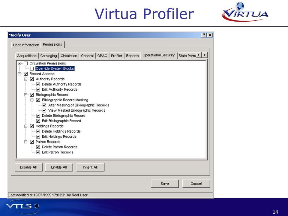 14 Virtua Profiler