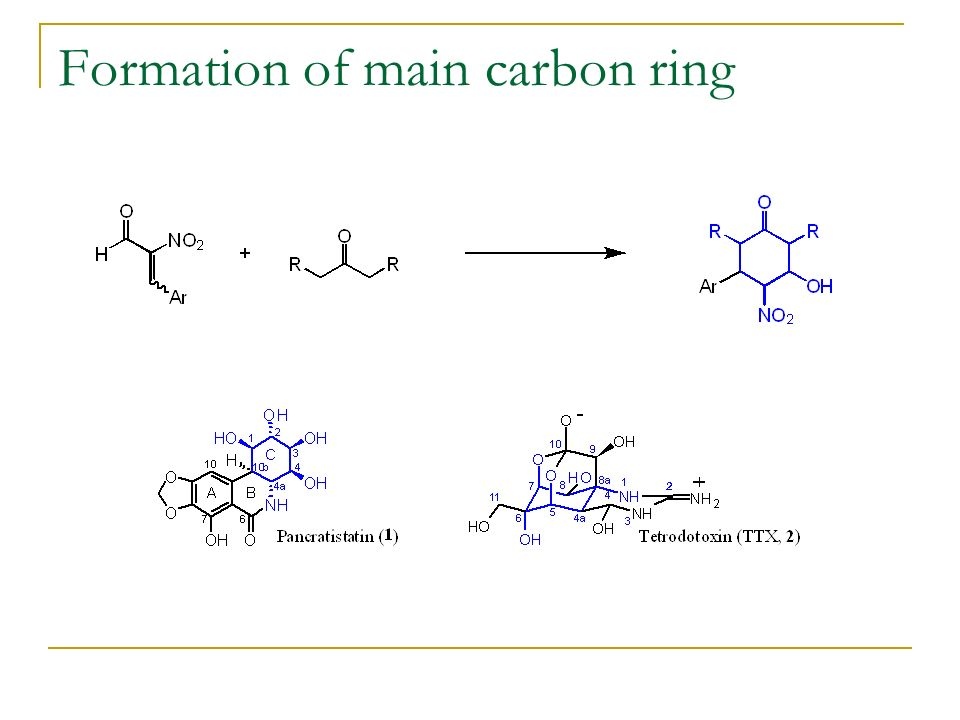 Formation of main carbon ring