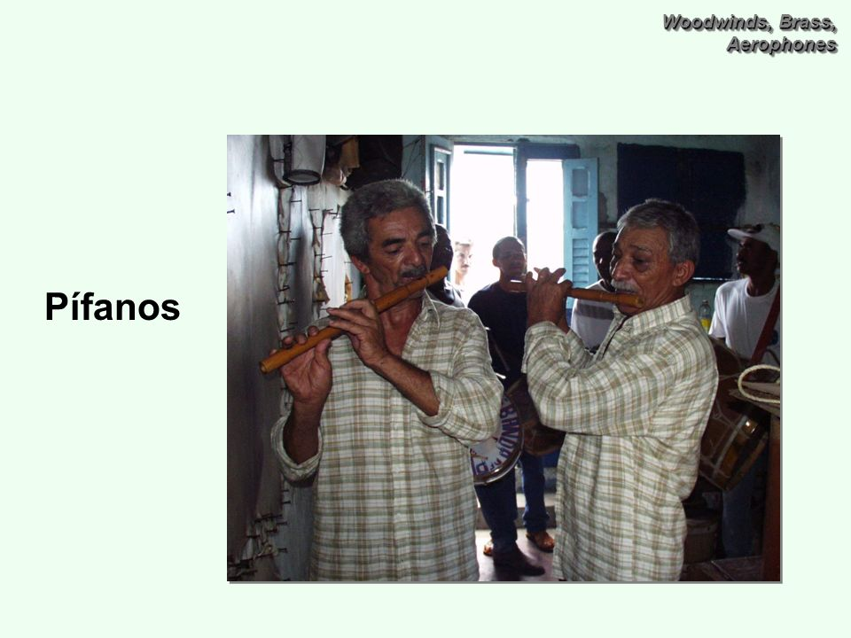 Woodwinds, Brass, Aerophones Pífanos