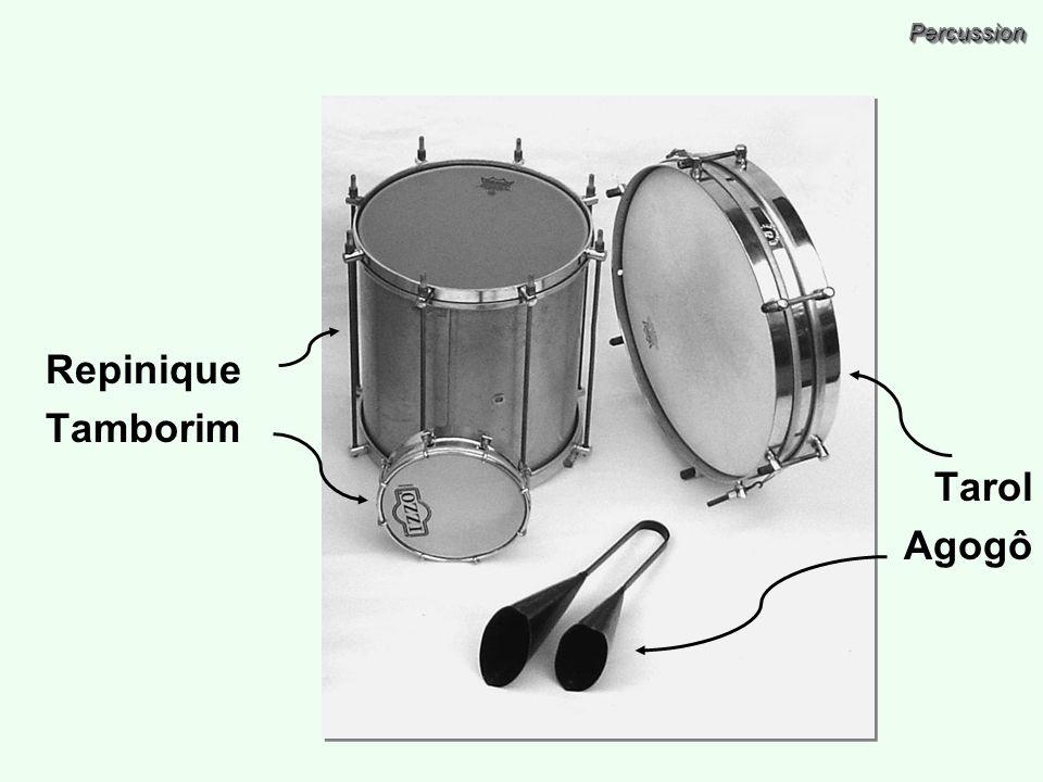PercussionPercussion Repinique Tamborim Tarol Agogô
