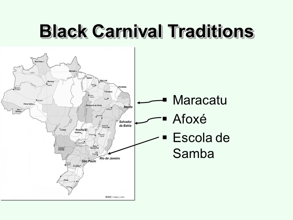 Black Carnival Traditions Maracatu Afoxé Escola de Samba