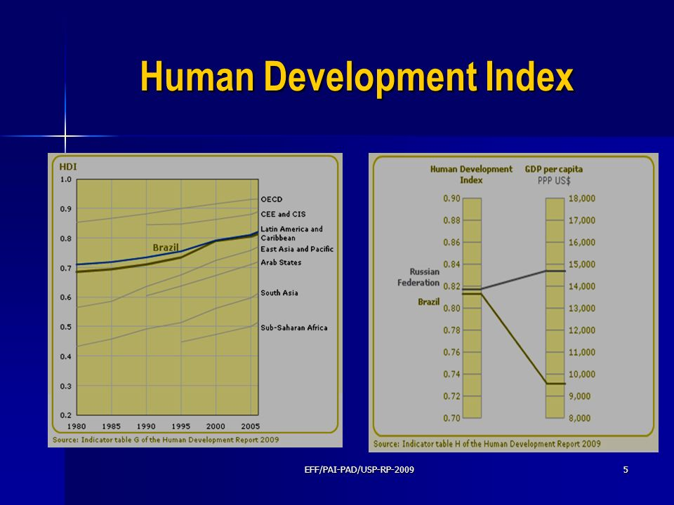 Human Development Index EFF/PAI-PAD/USP-RP-20095