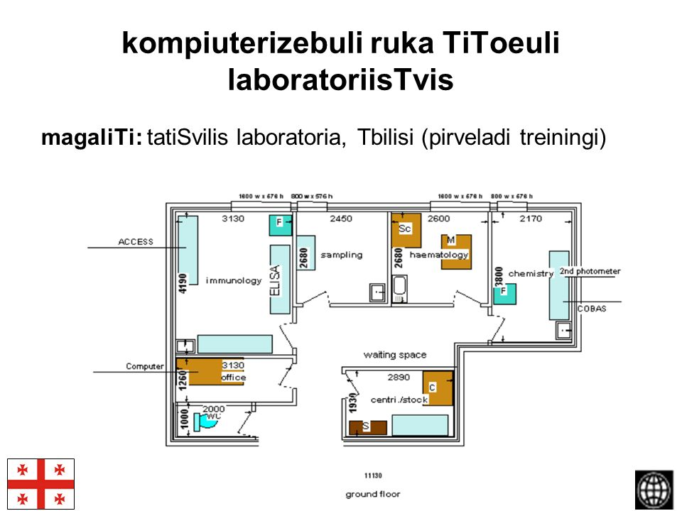 PHC Laboratory system strengthening in Georgia kompiuterizebuli ruka TiToeuli laboratoriisTvis magaliTi: tatiSvilis laboratoria, Tbilisi (pirveladi tr
