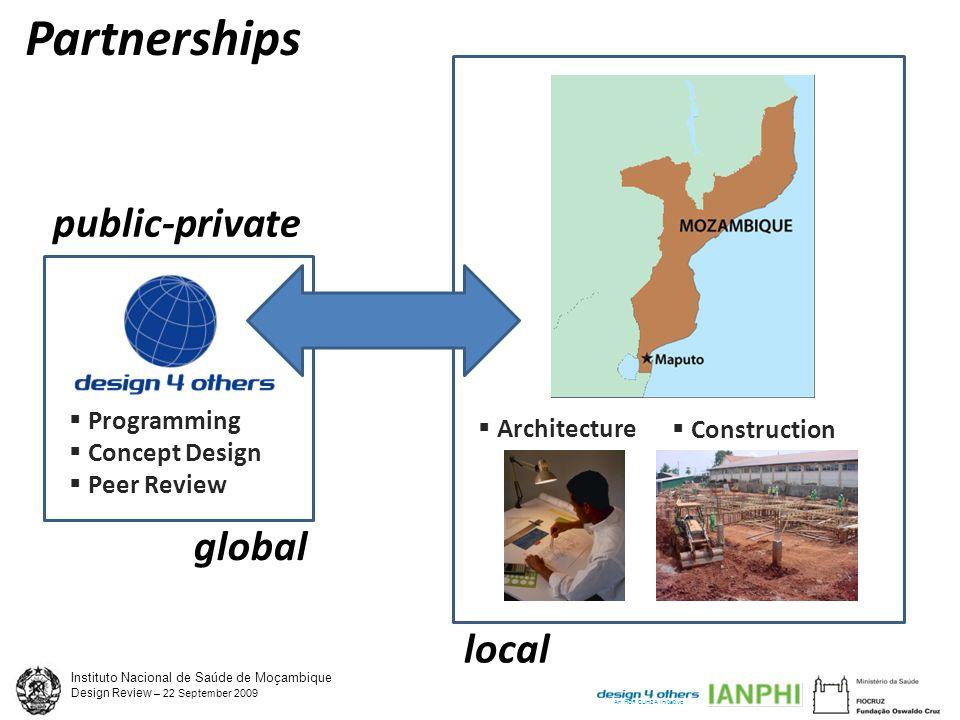 Instituto Nacional de Saúde de Moçambique Design Review – 22 September 2009 An HDR CUH2A Initiative Facility Goals